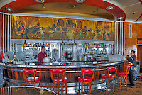 RMS Queen Mary, Deco Bar, Cruise ship, Hotel, Long Beach, CA, California, USA High dynamic range imaging (HDRI or HDR)