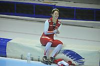 SCHAATSEN: HEERENVEEN: 29-12-2013, IJsstadion Thialf, KNSB Kwalificatie Toernooi (KKT), Marrit Leenstra, Ontlading na de 1500m einduitslag, ©foto Martin de Jong