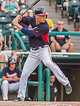 19 March 2015: Atlanta Braves outfielder Connor Lien in Spring Training action against the Miami Marlins at Champion Stadium in the ESPN Wide World of Sports Complex in Kissimmee, Florida. The Braves defeated the Marlins 6-3 in Grapefruit League play. Mandatory Credit: Ed Wolfstein Photo *** RAW (NEF) Image File Available ***