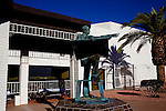 A statue of Del Webb stands near the Sun City Welcome Center in Sun City, AZ December 11, 2010.