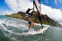 Windsurfing, Kauai, Hawaii