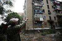 Slavyansk and Donetsk after bombing
