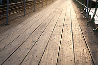 Wooden Pier Boards in Evening Sunlight, Line, Pattern,