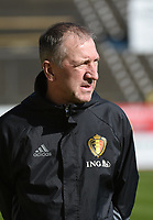 20170323 - BEVEREN , BELGIUM : Belgian assistant coach Franky van der Elst pictured during the UEFA Under 19 Elite round game between Sweden U19 and Belgium U19, on the first matchday in group 7 of the Uefa Under 19 elite round in Belgium , thursday 23 th March 2017 . PHOTO SPORTPIX.BE | DIRK VUYLSTEKE