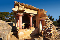 Arthur Evans reconstruction of  Knossos North Lustral basin Minoan Palace archaeological site, Crete
