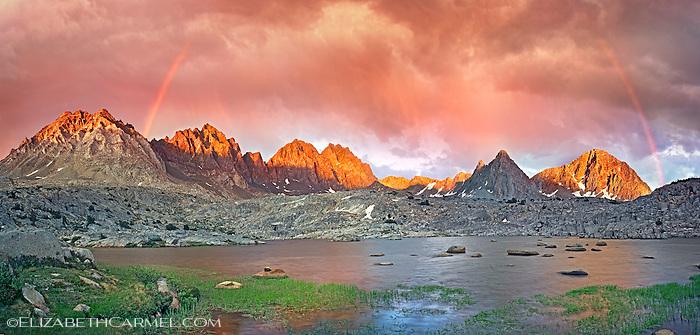 Sunset Rainbows, Palisade Range