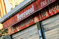 Newsweek Sign Outside Closed Newsagents - 2010
