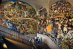 Mexico, Mexico City, National Palace, Diego Rivera Stairwell Mural 'The History of Mexico', 1929-1935