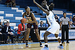 21 November 2015: Iona's Karynda DuPree (10) and North Carolina's Destinee Walker (24). The University of North Carolina Tar Heels hosted the Iona College Gaels at Carmichael Arena in Chapel Hill, North Carolina in a 2015-16 NCAA Division I Women's Basketball game. UNC won the game 64-52.