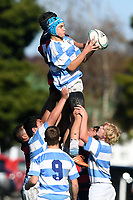 Action from the under-15 college rugby match between Hastings Boys' High School and St Patrick's College Silverstream at Hastings Boys' High School in Hastings, New Zealand on Saturday, 6 May 2017. Photo: Kerry Marshall / lintottphoto.co.nz