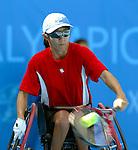 Yuka Chokyu de Vancouver Bc,  tennis en double &agrave; Ath&egrave;nes.<br /> (Benoit Pelosse photographe,)
