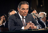 "General Alexander Haig (United States Army, ret.), U.S. President-elect Ronald Reagan's nominee to be U.S. Secretary of State testifies during confirmation hearings on his nomination before the United States Senate Foreign Relations Committee on January 9, 1981..Credit: Benjamin E. ""Gene"" Forte / CNP"