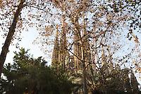 Nativity façade, La Sagrada Familia, Roman Catholic basilica, Barcelona, Catalonia, Spain, built by Antoni Gaudí (Reus 1852 ? Barcelona 1926) from 1883 to his death. Still incomplete. Picture by Manuel Cohen