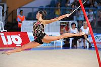 Tetyana Zahorodnya of Ukraine performs with ribbon at 2010 Holon Grand Prix at Holon, Israel on September 3, 2010.  (Photo by Tom Theobald).