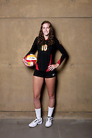 10 August 2010: #10 Sara Shaw OH/OPP  on the Pac-10 NCAA College Women's Volleyball team for the USC Trojans Women of Troy photographed at the Galen Center on Campus in Southern California. .Images are for Personal use only.  No Model Release, No Property Release, No Commercial 3rd Party use. .Photo Credit should read: &copy;2010ShellyCastellano.com