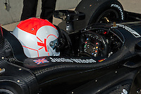 20-21 Febuary, 2012 Birmingham, Alabama USA.Justin Wilson cockpit.(c)2012 Scott LePage  LAT Photo USA