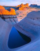 Delta Pool, Utah   Rainwater pool  near Moab, Utah