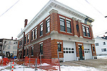 WATERBURY, CT 02 January 2008-010209SV05--The 101-year Baldwin Street firehouse at 823 Baldwin St. is under a $809,000 renovation in Waterbury. Firefighters from this house, known as engine 4, have returned while renovation is still on going.<br /> Steven Valenti Republican-American