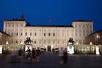 Royal Palace in Turin - Torino, Italy illuminated at night