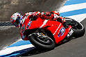 July 25, 2010 - Laguna Seca, USA - Ducati's Australian rider, Casey Stoner, takes a curve at the U.S. Grand Prix held on July 25, 2010. (Photo Andrew Northcott/Nippon News)