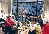 Apres ski party, Snowbird Ski resort, Snowbird Utah, 1972. Photo by John G. Zimmerman