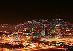 oslo by night, capitol of Norway seen from Ekeberg hill.
