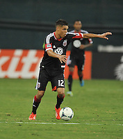 Luis Silva (12) of D.C. United. The New England Revolution defeated D.C. Untied 2-1, at RFK Stadium, Saturday July 27 , 2013.