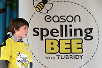 NO FEE PICTURES.8/3/12 Niall Meaghar, St Laurences BNS, Stillorgan, taking part in the Dublin County final, part of the overall Eason 2012 Spelling Bee, held at St Olaf's NS, Dundrum. .For further details visit www.easons.com/spellingbee and stay tuned to RTE 2fm. Picture:Arthur Carron/Collins