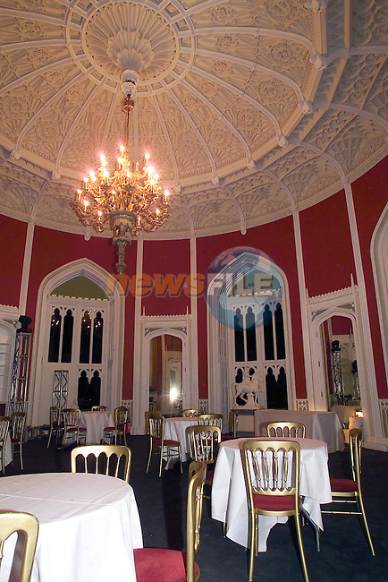 part of the Ball room in tSlane castle where the McFadden Wedding is going to take Place on Saturday..Picture Fran Caffrey Newsfile.