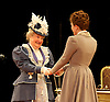 An Ideal Husband by Oscar Wilde<br /> at Festival Theatre Chichester, Great Britain <br /> 25th November 2014 <br /> <br /> directed by Rachel Kavanaugh <br /> <br /> Patricia Routledge as Lady Markby <br /> <br /> Laura Rogers as Lady Chiltern <br /> <br /> <br /> <br /> Photograph by Elliott Franks <br /> Image licensed to Elliott Franks Photography Services
