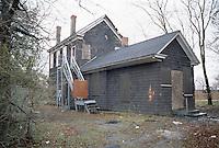 1996 February 10.Conservation.Lamberts Point...Acquisitions.Vacant house.Rear Exterior.1400 block West 25th Street...NEG#.NRHA#..CONSERV: Lambert2 6:15