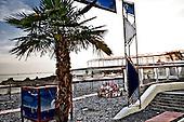Sochi 02.06.2010 Russia<br /> Sochi is above all the warmest region in Russia. Residents are very surprised why Olimpic Games will take place here in Sochi. Concrete and rocky beach is not encouraging for the rest.<br /> Photo: Adam Lach / Newsweek Polska / Napo Images<br /> <br /> Soczi to przede wszystkim najcieplejszy region w Rosji. Mieszkancy sa bardzo zdziwieni dlaczego akurat tuaj maja odbywac sie Igrzyska Olimpijskie. Betonowo kamienista plaza nie zacheca do wypoczynku.<br /> Photo: Adam Lach / Newsweek Polska / Napo Images