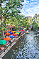 Another colorful capture of the riverwalk with the Casa Rio umbrellas and their dinning boat setting up for a private dinner on board. Sounds like a fun way to see everthing along the riverwalk in downtown San Antonio. Watermark will not appear on image