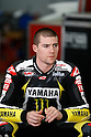 February 4, 2010 - Kuala Lampur, Malaysia - American rider Ben Spies (Yamaha Tech 3) takes a break in his box during MotoGP testing on Sepang International Circuit on February 4, 2010. (Photo Andrew Northcott/Nippon News)