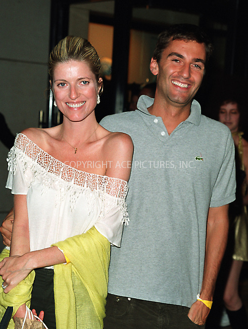 """Lucy Sykes and her husband attending the New York Premiere of """"Austin Powers in Goldmember"""" at Barney's New York on Madison Avenue in New York. July 24, 2002. Please byline: Alecsey Boldeskul/NY Photo Press.   ..*PAY-PER-USE*      ....NY Photo Press:  ..phone (646) 267-6913;   ..e-mail: info@nyphotopress.com"""