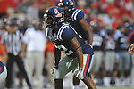 Ole Miss' Mike Marry (52) at Vaught-Hemingway Stadium in Oxford, Miss. on Saturday, September 10, 2011. The play was called back due to penalty.