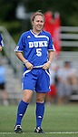 07 October 2007: Duke's Jane Alukonis. The Duke University Blue Devils defeated the North Carolina State University Wolfpack 1-0 at Method Road Soccer Stadium in Raleigh, North Carolina in an Atlantic Coast Conference NCAA Division I Women's Soccer game.