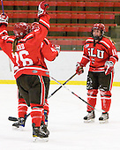 Karell Emard (St. Lawrence - 76), Kelly Sabatine (St. Lawrence - 16) - The Harvard University Crimson defeated the St. Lawrence University Saints 8-3 (EN) to win their ECAC Quarterfinals on Saturday, February 26, 2011, at Bright Hockey Center in Cambridge, Massachusetts.