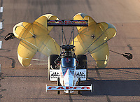 Feb 24, 2017; Chandler, AZ, USA; NHRA top fuel driver Steve Torrence during qualifying for the Arizona Nationals at Wild Horse Pass Motorsports Park. Mandatory Credit: Mark J. Rebilas-USA TODAY Sports