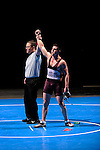 12 MAR 2011: Bradley Banks of Wartburg celebrates his victory in the 174 lbs championship match during the Division III Men's Wrestling Championship held at the La Crosse Center in La Crosse Wisconsin. Molitor defeated Banks 3:20 to claim the national title. Stephen Nowland/NCAA Photos