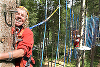 Bad Aussee, Ausseerland, Steiermark, Styria, Austria, September 2008. 'obnunduntn kletterpark' in Austaussee is on of the biggest climbing parks in Europe. The province of Styria is known for its green alpine landscape, good food and many lakes. Photo by Frits Meyst/Adventure4ever.com