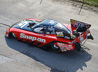 Sep 24, 2016; Madison, IL, USA; NHRA funny car driver Cruz Pedregon during qualifying for the Midwest Nationals at Gateway Motorsports Park. Mandatory Credit: Mark J. Rebilas-USA TODAY Sports