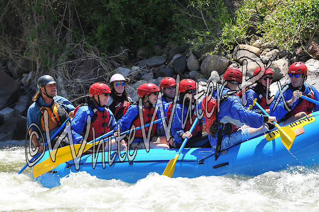 Timberline Tours crashing Interstate, Dead Cow & Rodeo Rapids while running the Lower Eagle River from Wolcott to Eagle on the morning of July 5, 2014.