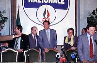 Roma Aprile 1994 ..Gianfranco Fini (Alleanza Nazionale) dopo dei risultati delle elezioni politiche