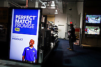 A man checks best buy products inside one of their stores in Manhattan. Best Buy will Management discusses Q4 results on thursday in New York, United States. 28/03/2012.  Photo by Eduardo Munoz Alvarez / VIEWpress.