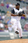 10 September 2006: Ray King, pitcher for the Colorado Rockies, on the mound against the Washington Nationals. The Rockies defeated the Nationals 13-9 at Coors Field in Denver, Colorado...Mandatory Photo Credit: Ed Wolfstein.