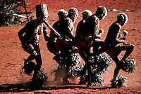 Rare Aborigine ceremony, Central Australia