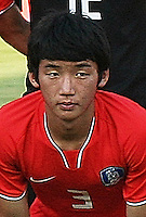 South Korea's Min Woo Kim (3) stands on the field before the FIFA Under 20 World Cup Quarter-final match between Ghana and South Korea at the Mubarak Stadium  in Suez, Egypt, on October 09, 2009.