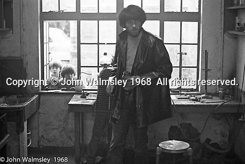 Science laboratory, Summerhill school, Leiston, Suffolk, UK. 1968.