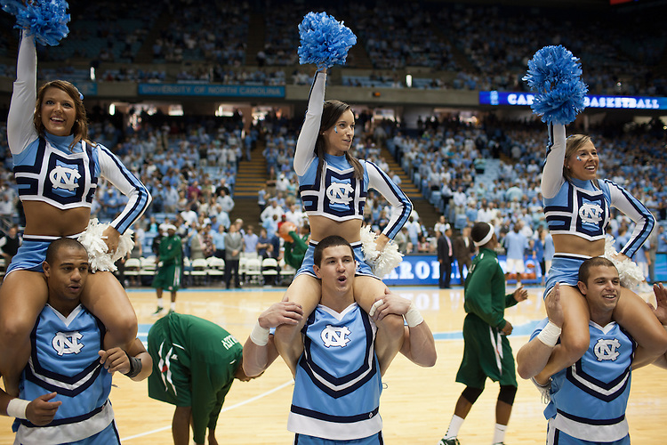 Who's got spirit? - UNC vs Mississippi Valley State at the Dean Smith Center, Chapel Hill, NC, Sunday, November 20, 2011. .